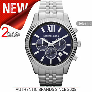 Azul Reloj Cronógrafo Lexington Hombres Detalles Kors De Título Ver Michael Pulsera Para Mk8280 │ Correa Esfera Original drCxeoBW