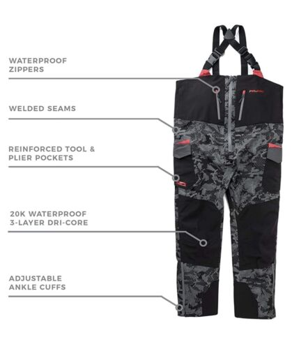 Pelagic Tempest Pro Storm Bib Pants Men's Size XL Black $349