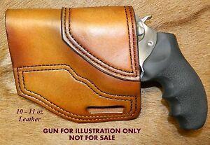 """Gary C's Avenger OWB Left Hand Revolver Holster RUGER SP 101  3"""" Heavy Leather"""