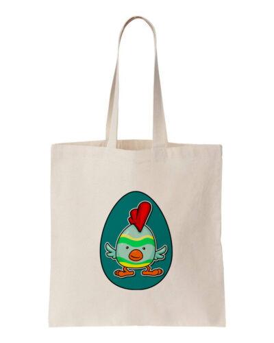 Funky Pollo 100/% Algodón Huevo De Pascua Chica Eco Bolso Bolso de compras 150GSM 5OZ