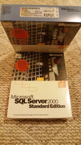Full Retail Sealed Box Microsoft SQL Server 2000 SKU 228-00683 5 CAL