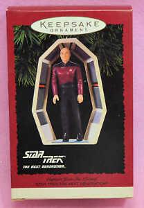 Vintage-Star-Trek-Hallmark-Keepsake-Ornament-Captain-Jon-Luc-Picard-MIB