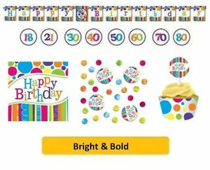 age-70-70eme-Anniversaire-CLAIR-amp-epais-Gamme-Fete-Vaisselle-Ballons-Decorations