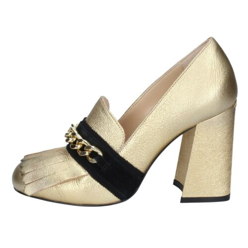 38 EU loafers gold leather BN633-38 Details about  /Women/'s shoes LIU JO 8
