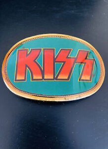 1977-KISS-PACIFICA-BELT-BUCKLE-AUCOIN-OFFICIALLY-LICENSED-RARE-EXCELLENT-SHAPE