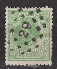 NVPH Netherlands Nederland 24 TOP CANCEL DORDRECHT (29) Willem III 1872