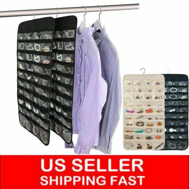 Jewelry Brooch Closet Hanging Holder 36-Pocket Storage Organizer 3 Colors