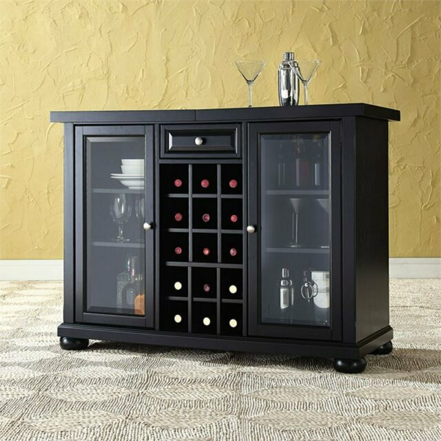 Crosley Furniture Alexandria Sliding Top Bar Cabinet ...