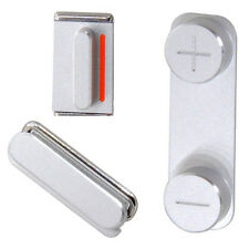 Genuine iPhone 5 Silver Key Set - Power/Lock, Mute & Volume Button Original