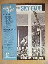 1967 Match day Magazine (Sky Blue) Coventry City v Westham United 8 December