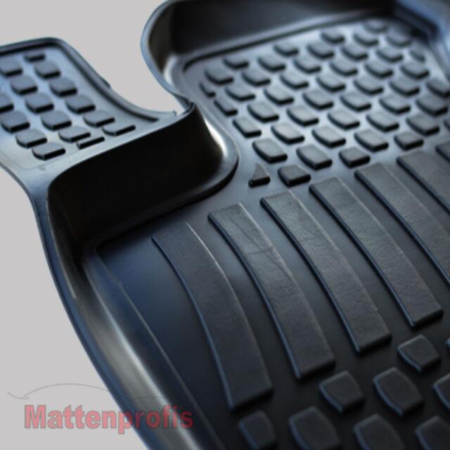 3D TPE Gummimatten Gummifußmatten für Seat Leon II 1P ab Bj.2005 - 2012