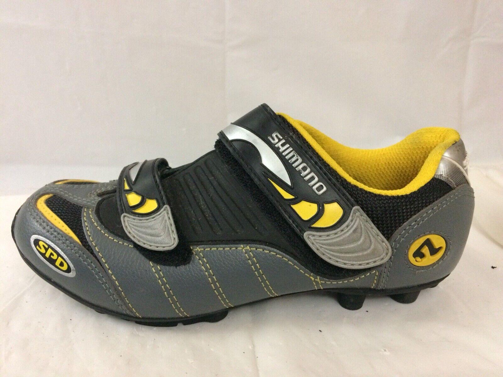 Shimano Bike zapatos para hombre 5 Med 38 euros sin hardware de Cuero gris para Ciclismo SH-M082WY