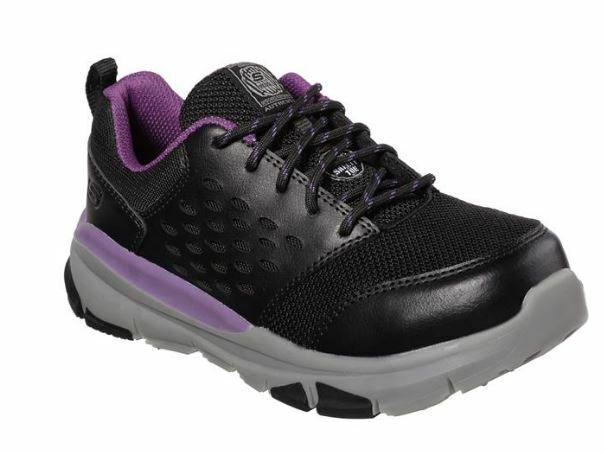all'ingrosso economico e di alta qualità Skechers Donna  nero viola Alloy Toe Electrical Hazard Hazard Hazard Work scarpe 77269  consegna diretta e rapida in fabbrica