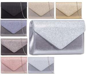 WOMENS-GLITTER-SHIMMER-PARTY-PROM-BRIDAL-EVENING-CLUTCH-ENVELOPE-PURSE-HANDBAG