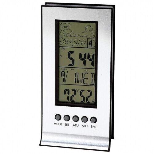 Mitaki Japan Indoor Weather Station Digital Alarm Clock LCD Large Display Indoor