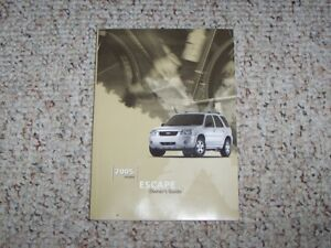 ford escape owner operator manual user guide xls xlt
