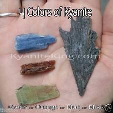 4 COLORS OF KYANITE, Blue, Black, Orange, Green