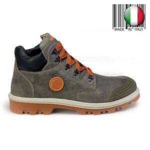 Boutique en ligne 9b5e2 99b9e Detalles de Dike Zapatos Trabajo Piel Punta Aluminio Botines Seguridad Gris