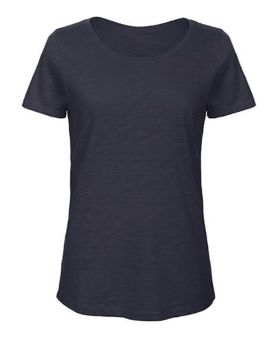T-Shirt Femmes//100/% Slub Organic Cotton thé avec encolureb/& C