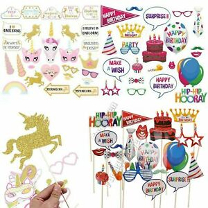 22-30-Unicorn-Birthday-Girls-Boys-Photo-Booth-Party-Props-Selfie-Decorations-Set