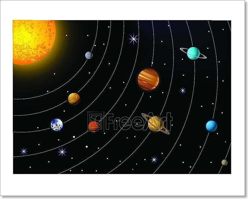 Solar System  Art Print Home Decor Wall Art Poster - G