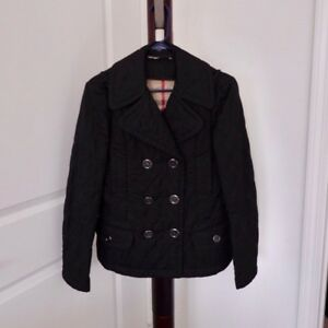 c920f27ff3f0 Image is loading Burberry-Women-s-Black-Short-Quilted-Coat-Jacket-