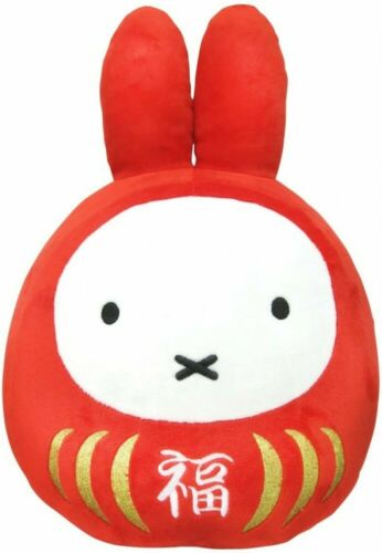 Miffy Fortune Daruma Lucky Plush Doll S Size  Red x White From Japan
