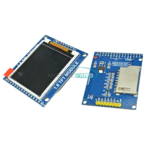 2PCS Mini 1.8 Inch Serial SPI TFT LCD Module Display with PCB ST7735B IC Adapter