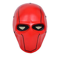 Red Airsoft Gun Paintball Full Face Wire Mesh Protection Skull Mask Prop