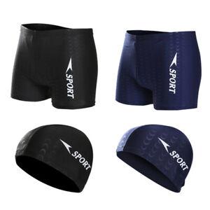 Traje-De-Bano-Boxer-para-Hombre-Pantalones-Cortos-De-NatacioN-Nadar-Medias-B8Z8