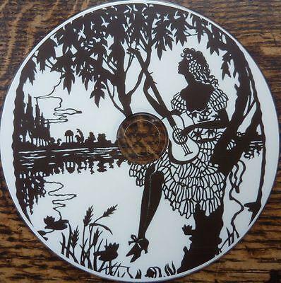 Vintage black SILHOUETTES fairy romance art images Decoupage Card Scrapbook CD