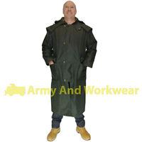 Wax Stockman Long Riding Cape Oiled Skin Coat Jacket Waterproof Countryside Mens