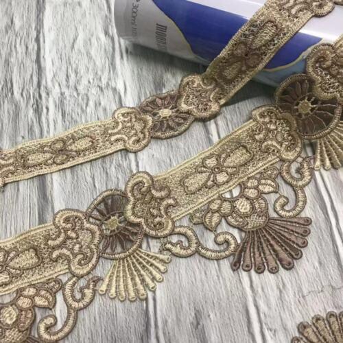 1 Yard Stickerei Spitze Quaste Trim Ribbon Appliques DIY Nähen Vorhang Sofa Deko