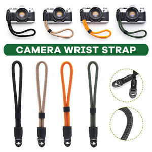 Universal-Camera-Wrist-Strap-Leather-Silky-Cord-Handmade-Rope-Neck-Adjustable