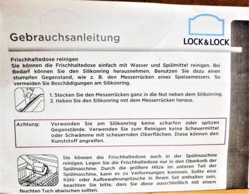 Lock /&Lock 1 Vorratsdose 2,4 l capri-blau rot beere limette hpl 813lf Dose