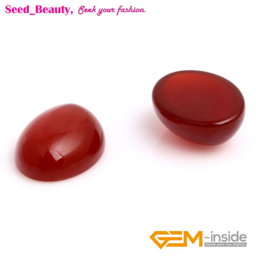 Oval Red Agate CAB Cabochon Beads For Jewelry Ring Pendant Making 5Pcs 6 Size