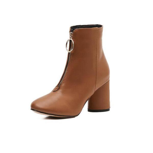 ampia selezione Stivali stivaletti bassi scarpe stiletto 7.5 Marronee Marronee Marronee eleganti simil pelle 9611  nessun minimo