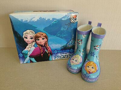 BNIB Girls Sz 7 Quality Frozen Brand Smart Blue Purple Print Gumboots