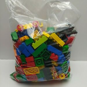 Lego-Duplo-1-5-KG-Bundle-Various-Colour-Blocks-amp-2-Vehicles-Ages-1-Pre-owned