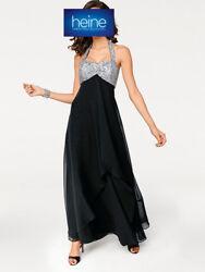 Abend-Kleid ASHLEY BROOKE by heine. Schwarz-silber. NEU!!! KP 139,90 € SALE%%%