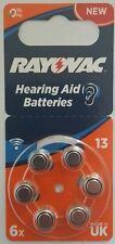 Rayovac® 13 / PR48 1.45v Zinc Air Hearing Aid Battery - 6 Pack