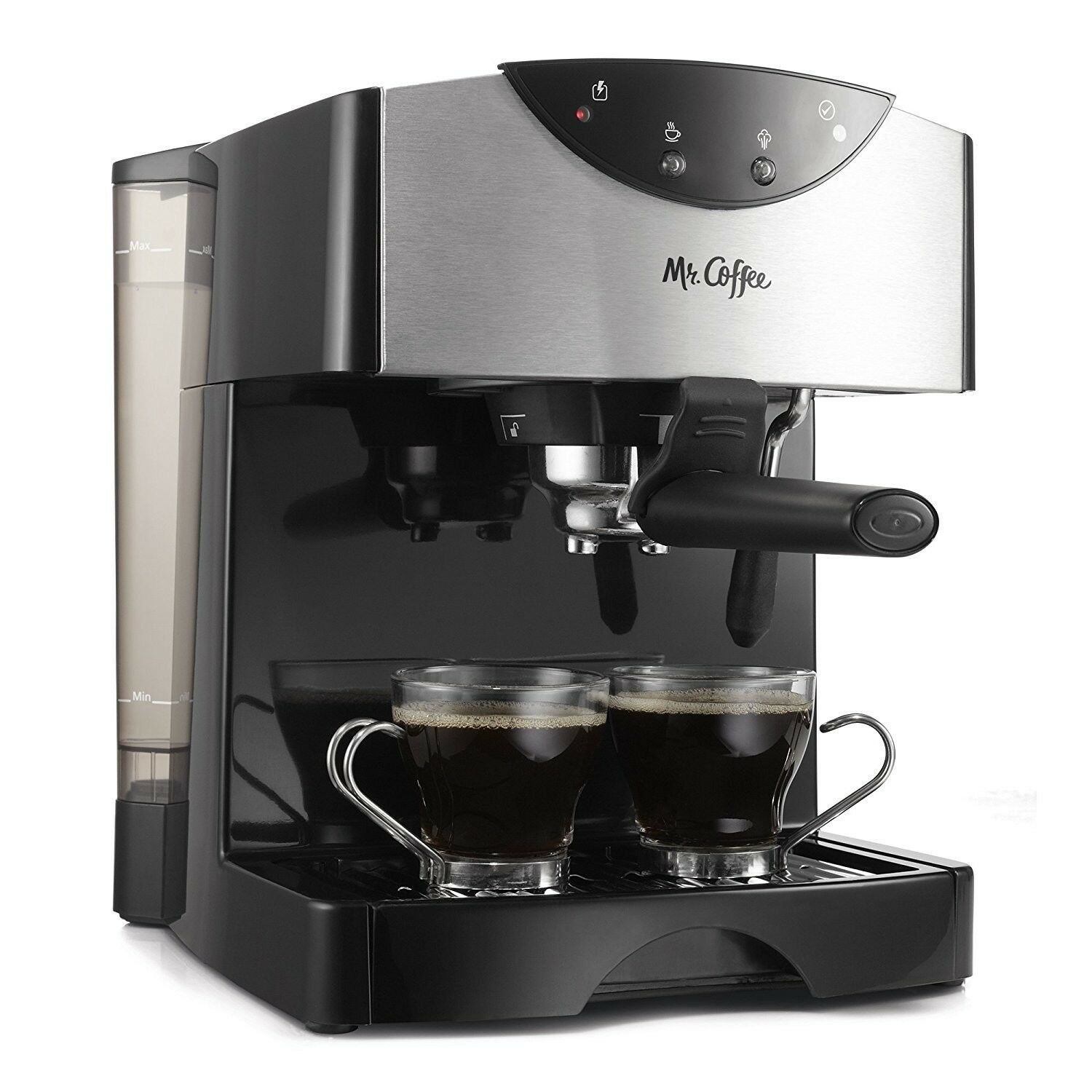 Mr. Coffee 2 Shot POMPE Expresso Cappuccino Maker, Noir