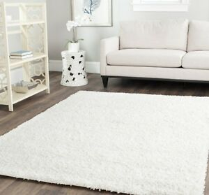 Image Is Loading Solid Pure White Area Rug Rugs Carpet