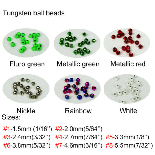 20PCS//Pack Aventik Fly Tying Tungsten Round Ball Beads Craft