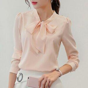 Ladies-T-Shirt-Women-Shirt-Top-Chiffon-Fashion-Loose-Long-Sleeve-Summer-Blouse