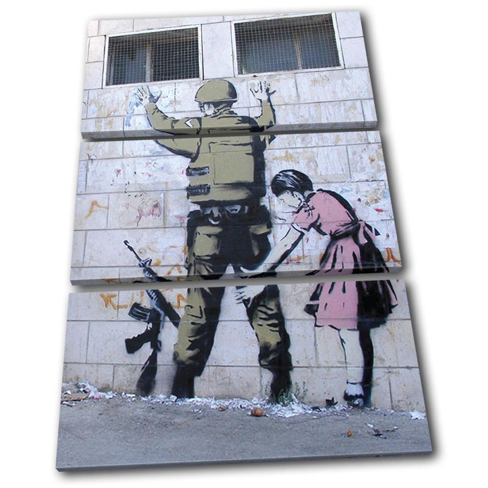 Stop Search Banksy Street TREBLE TREBLE TREBLE LONA pa rojo  arte Foto impresion 19cdca