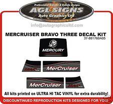 Mercruiser Bravo Three  Outdrive Decal Kit reproductions mercury   Diesel Azius