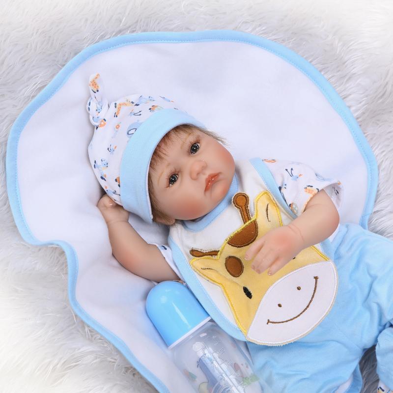 17  Vinilo Muñeca Bebé Niño Reborn silicona recién nacido realista Juguete Niños Regalo acompañar