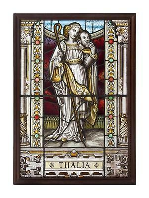 LAST CALL CLEARANCE!! RARE 19THC ORIG HANDSIGNED STAINED GLASS WINDOW A.L. MOORE