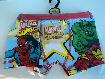 Spiderman Boxer Shorts Trunks Age 4 to 10 Boys Official Marvel Comics Spidey